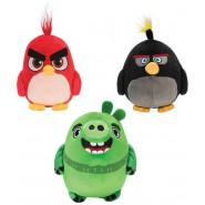 LOT 3 Plush ANGRY BIRDS 12cm Characters RED, CHUCK, BOMB, LEONARD Original ROVIO Jazwares