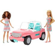 BARBIE Playset JEEP Car with 2 DOLLS Original MATTEL FPR59