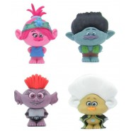 TROLLS WORLD TOUR Lot 4 Mini CHARACTERS 4cm POPPY BRANCH TROLLZART and REGINA Puzzle Eraser