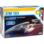 STAR TREK WRATH OF KHAN Model Kit ENTERPRISE NCC-1701 REFIT Snap Kit 1:1000 Polar Lights 0974