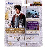 HARRY POTTER Set 2 Different Mini Models CAR 4cm 1959 Ford Anglia and Knight Bus NANO Blister Jada