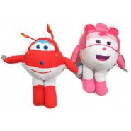 SUPER WINGS Pair 2 Different PLUSHIES 26cm  Jett Jerome Dizzy ORIGINAL