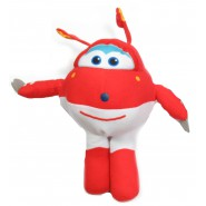 SUPER WINGS Plush JETT Plane RED Robot 30cm Original OFFICIAL Play By Play