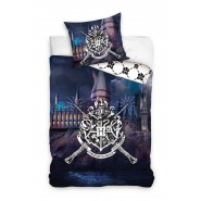 HOGWARTS Castle Bed Set HARRY POTTER 2 Pieces DUVET COVER 140x200cm and Pillow Case 70x90cm Cotton Official
