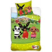 BED SET 140x200cm BING SULA and PANDO Greeting On Meadow Case 70x90cm 100% Cotton Original