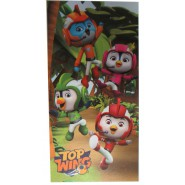 TOP WINGS 4 Characters in The Jungle Beach Towel 70x140cm Bath ORIGINAL Official