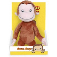 PLUSH 28cm CURIOUS GEORGE Monkey With Box ORIGINAL Official