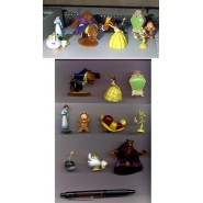 RARE Set 10 Figures Collection THE BEAUTY AND THE BEAST Original DISNEY Panini