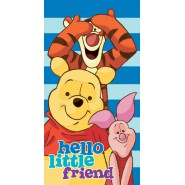 Beach Towel WINNIE POOH Hello Little Friend TIGER PIGLET 140x70cm ORIGINAL Cotton