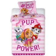 BABY BED SET Cotton Duvet Cover PAW PATROL PUP POWER Skye Everest Marshall 100x135cm ORIGINAL
