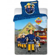 FIREMAN SAM Fire Squad Cotton BED Set DUVET COVER 100x135cm Original MARVEL Faro