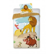 Cotton BED SET Original THE LION KING Simba Timon Pumbaa Duvet Cover 140x200cm