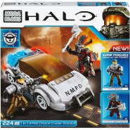 POLICE CRUISER STANDOFF Building Blocks Playset from HALO Mega Bloks CNG65