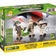 Box 3 GERMAN Soldiers With Weapons COBI 2028 Building Blocks