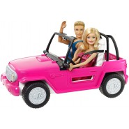 BARBIE Playset CRUISER BEACH JEEP Car with 2 DOLLS Ken Original MATTEL CJD12