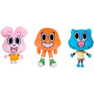 COMPLETE SET 3 PLUSH 28cm GUMBALL Amazing World Characters Darwin + Anais + Gumball Cartoon Network Play By Play