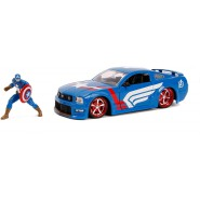 2006 FORD MUSTANG GT With Figure Captain America 1/24 DIE CAST Marvel JADA Toys
