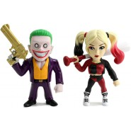 Box 2 Figures THE JOKER BOSS and HARLEY QUINN Statue 10cm METAL Dc Comics JADA Toys
