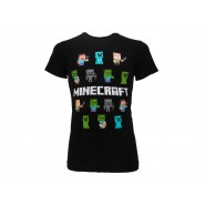 MINECRAFT T-Shirt Jersey black With 14 Characters Original OFFICIAL Videogame