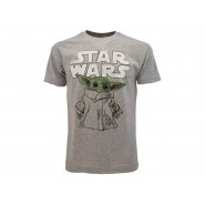 STAR WARS T-Shirt Jersey Grey With BABY YODA Original OFFICIAL Movie Disney