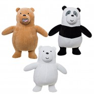 COMPLETE SET 3 PLUSH 20cm We Bare Bears Characters Grizzly + Panda + White Bear Cartoon Network