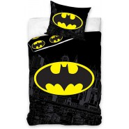 BATMAN Bed Set LOGO Symbol 2 Pieces DUVET COVER 140x200cm and pillow case Cotton ORIGINAL Official DC Comics