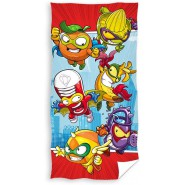 SUPERZINGS Red 6 Characters Beach Towel 70x140cm Bath ORIGINAL Official