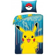 Bed Set POKEMON PIKACHU Pokeball DUVET COVER 140x200 Pillow cover 70x90 Double Face Cotton ORIGINAL Official