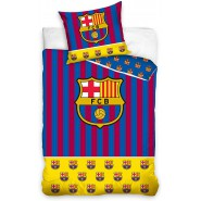 Single BED SET Cotton Duvet Cover FCB BARCELONA Mes Que Un Club Logo 160x200cm pillow case 70x 80cm