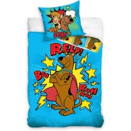 BED SET Original SCOOBY DOO Dog On A Dinosaur Duvet Cover 160x200cm + 70x80cm 100% Cotton