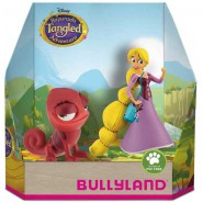 Box 2 Figures RAPUNZEL And PASCAL RED Chameleon  Original BULLYLAND