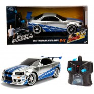 BRIAN 's SKYLINE GT-R BNR34 Car Model R/C FAST AND FURIOUS Scale 1/24 18cm Turbo Boost Original JADA TOYS