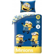MINION Single Bed Set TRIO DM3 Original DUVET COVER 140x200cm Cotton OFFICIAL DESPICABLE ME