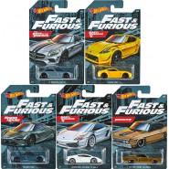 COMPLETE SET 5 Car Models FAST & FURIOUS 1/64 6cm ORIGINAL Mattel Hot Wheels DieCast GDG44