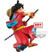 Figure MONKEY D LUFFY Rubber King Of Artist WANOKUNI KIMONO 17cm BANPRESTO Serie KING OF ARTIST