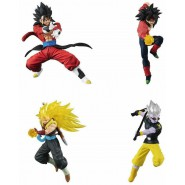 DRAGONBALL SUPER Complete Set 4 FIGURES Versus Battle Figure SERIES 13 Bandai Gashapon SS4 Vegetto Bardock Gotenks