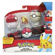 POKEMON Clip 'n' Go Official BELT With Figure GROWLITHE and 2 PokeBall ORIGINAL Official