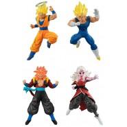 DRAGONBALL SUPER Complete Set 4 FIGURES Versus Battle Figure SERIES 14 Bandai Gashapon SS2 Goku Evil Vegeta