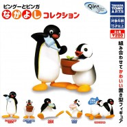 PINGU Penguin Complete Set 5 FIGURES Collection Donuts Sleeping and With Flower Takara Tomy Gashapon