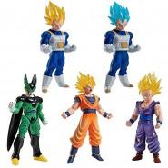 DRAGONBALL Complete Set 5 FIGURES High Grade Real Figure Series HG 05 Bandai Gashapon Gohan Vegeta Cell Goku