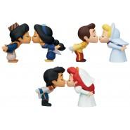Complete Set 3 COUPLE Pair Collection Wedding Bride Groom Ariel Cinderella Jasmine 5cm Gashapon TOMY