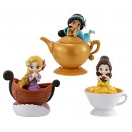 DISNEY Set 3 Figures 10cm PRINCESS Princesses SNOW WHITE CINDERELLA BELLE Original CAPCHARA BANDAI Japan HEROINE DOLL