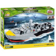 Playset Military Anti-Sub PATROL TORPEDO BOAT PT-305 Small Army WW2 COBI 2376 Building Blocks