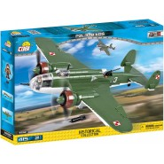 Playset Military PLANE Poland BOMBER PZL 37B LOS Small Army WW2 COBI 5532 Building Blocks