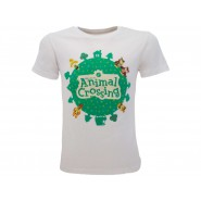 ANIMAL CROSSING Cotton T-Shirt WORLD LOGO Jersey OFFICIAL Original