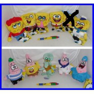 SET Lotto 10 Peluche SPONGEBOB Square Pants 15cm Originali Ufficiali NUOVI NEW