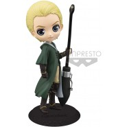 Figure Statue 14cm DRACO MALFOY From Harry Potter QPOSKET Quidditch Style Banpresto Dark Green Dress Version A