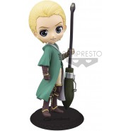 Figure Statue 14cm DRACO MALFOY From Harry Potter QPOSKET Quidditch Style Banpresto Light Green Dress Version B