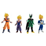 DRAGONBALL Lot 4 FIGURES High Grade Real Figure Series HG 05 Bandai Gashapon Gohan SS Vegeta SS Cell Goku SS