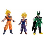DRAGONBALL Lot 3 FIGURES High Grade Real Figure Series HG 05 Bandai Gashapon Gohan SS Cell Goku SS